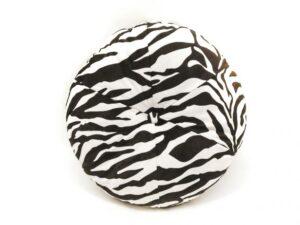 zebra kussen rond