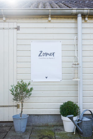 Tuinposter met tekst