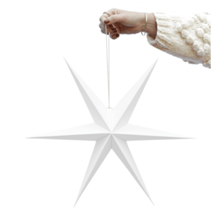 witte papier kerstster