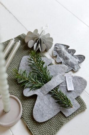 servethouder kerstboom vilt